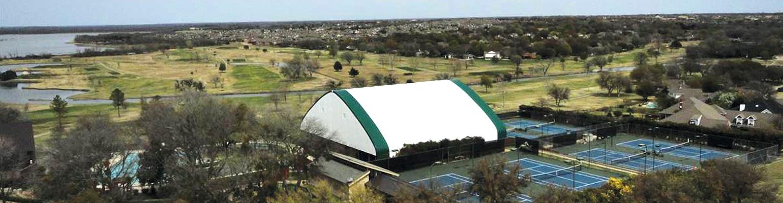 Fabric tennis building