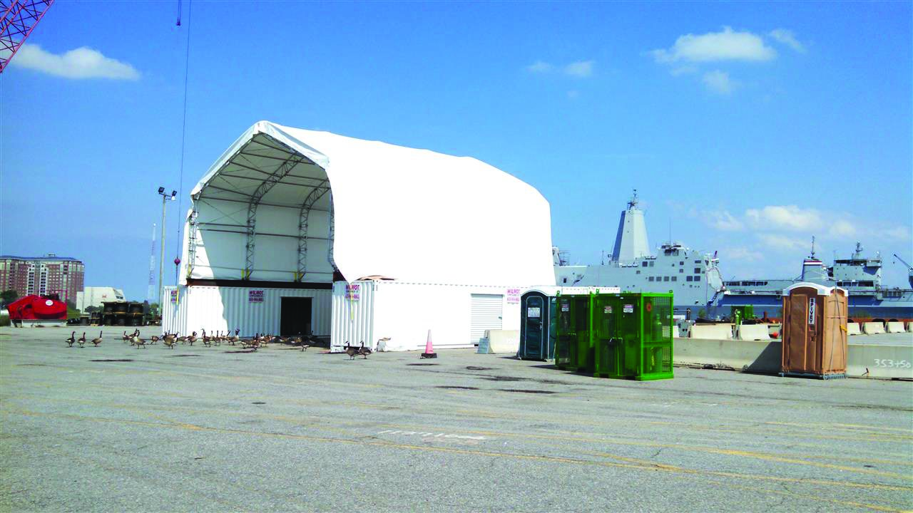 Marine storage buildings clearspan for Clear span garages