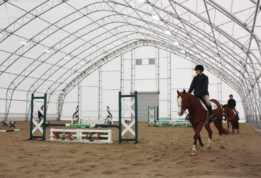 Horse Riding Arena with lighting