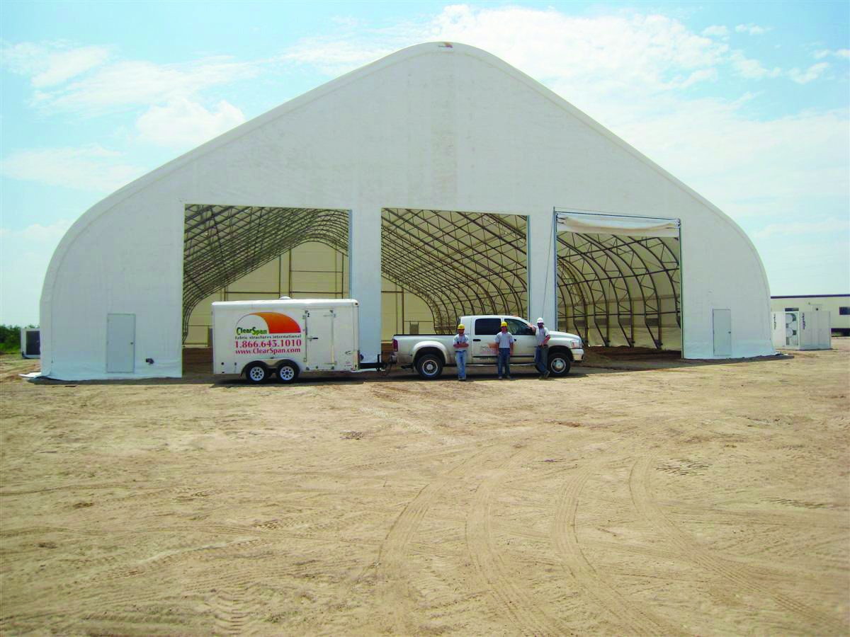 Vehicle garage clearspan for Clear span garages