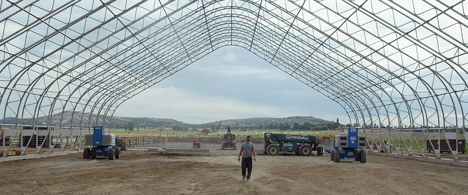 Fabric structure construction