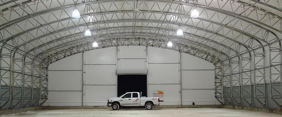 Fabric aviation building