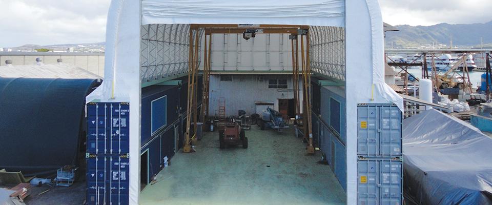 Fabric repair building