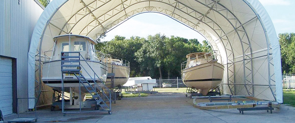 Fabric boat buildings