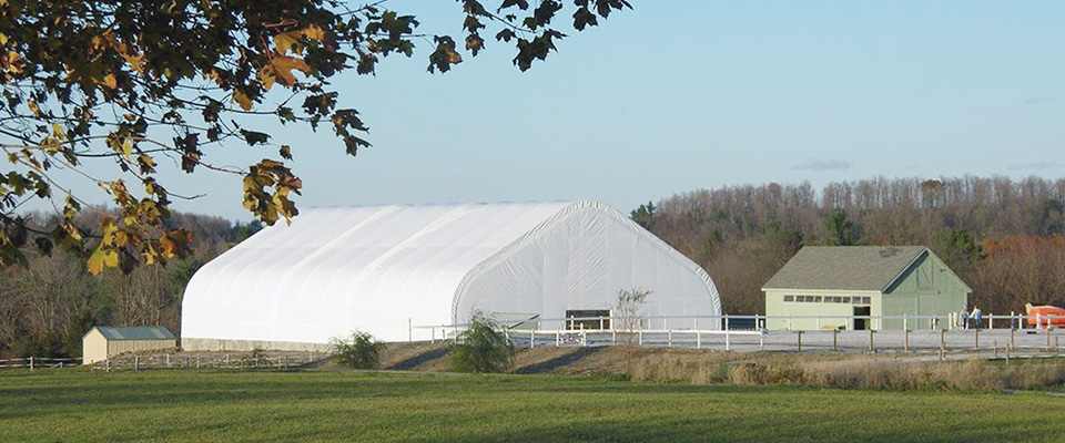 Clearspan horse arena