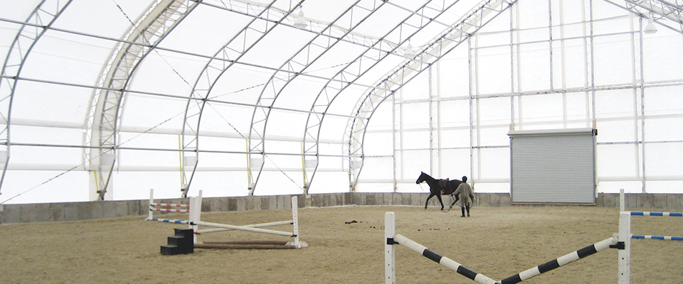 Equine riding arena