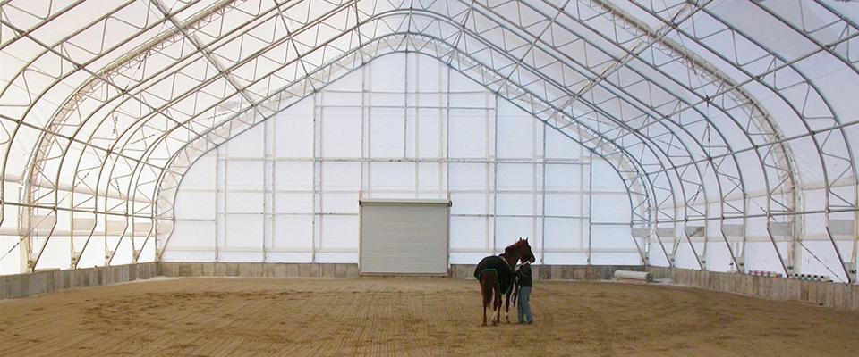 Fabric equine riding arena