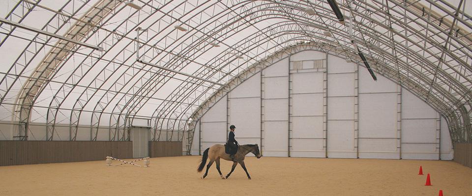 Custom riding arena
