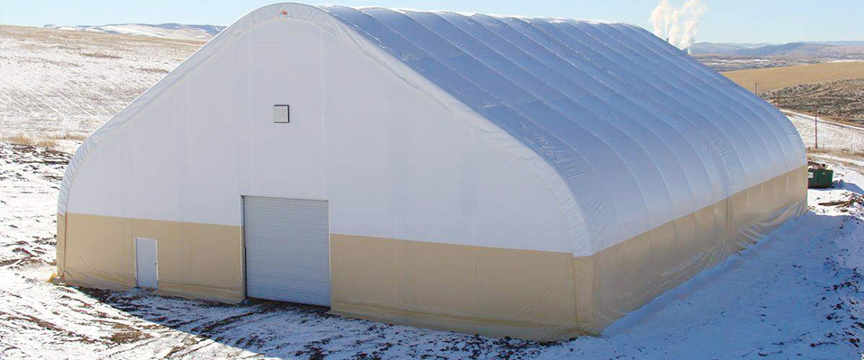 Gable fabric building