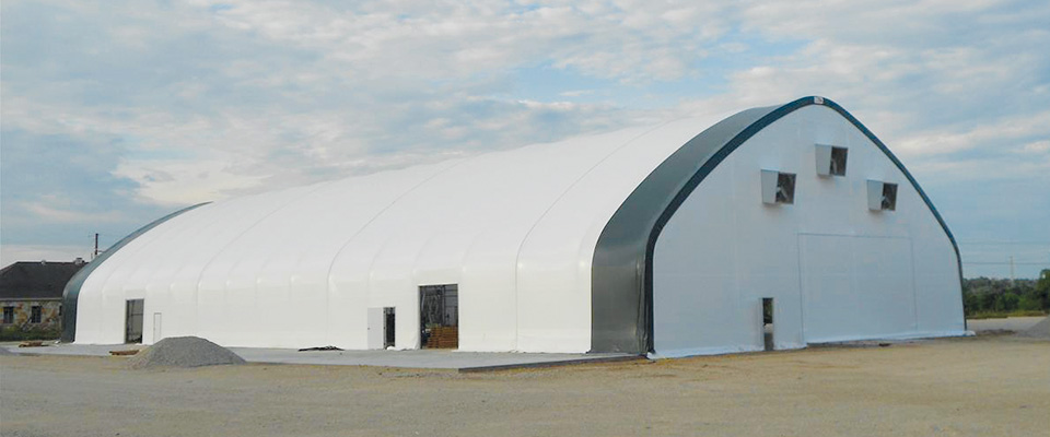 Fabric aquaculture buildings