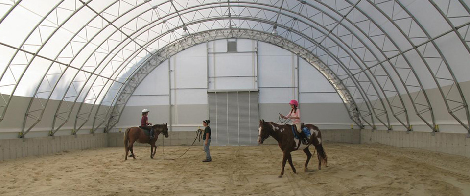 Horse riding arenas