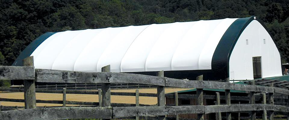 Fabric horse riding arenas
