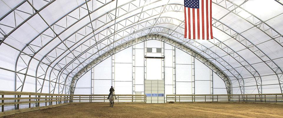 Fabric riding arena