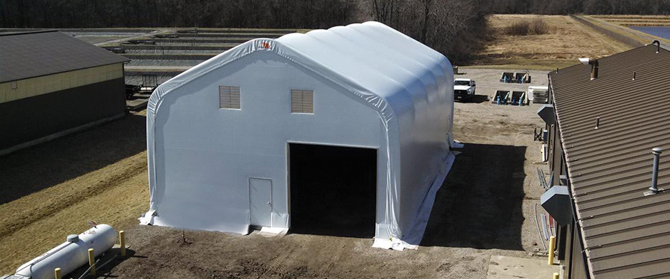 Fabric jobsite buildings