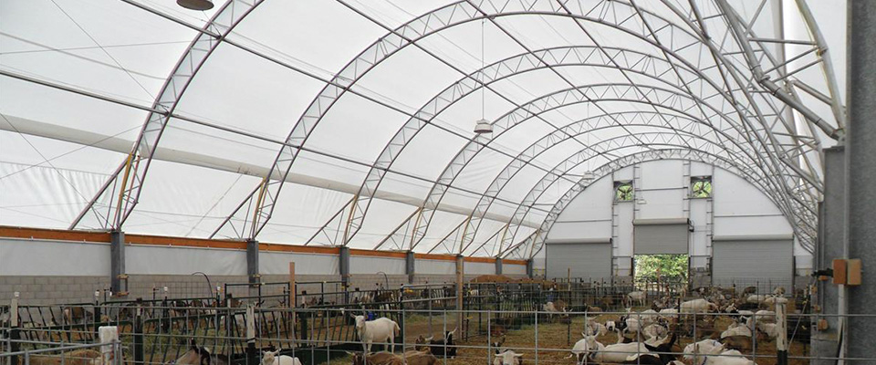 Round fabric structure