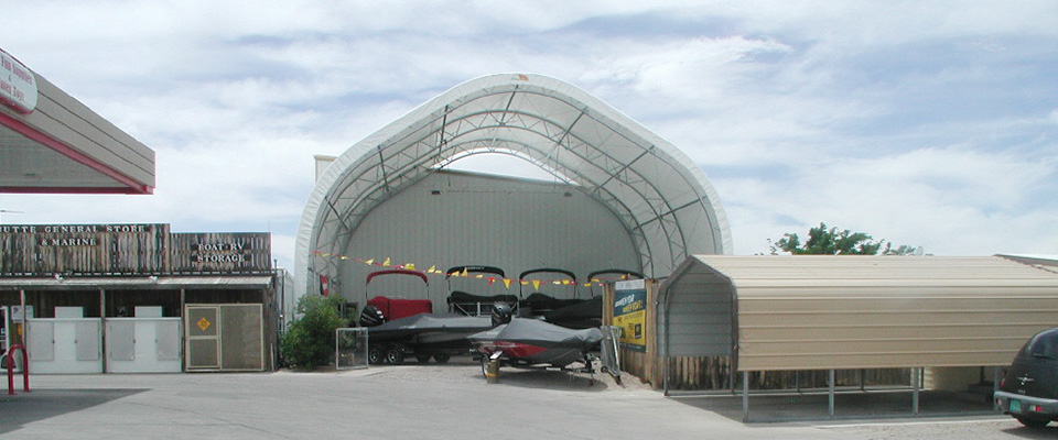 Marine storage building