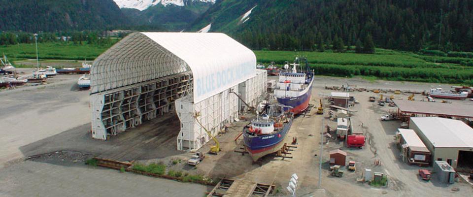 Fabric marine building