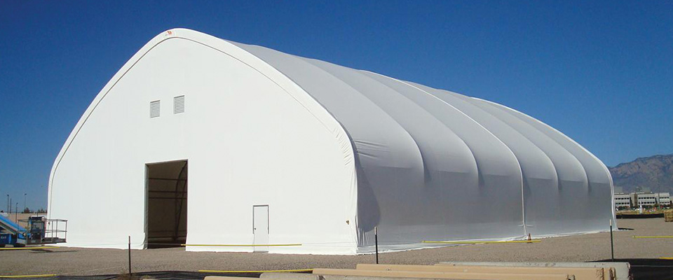 Gable fabric structure