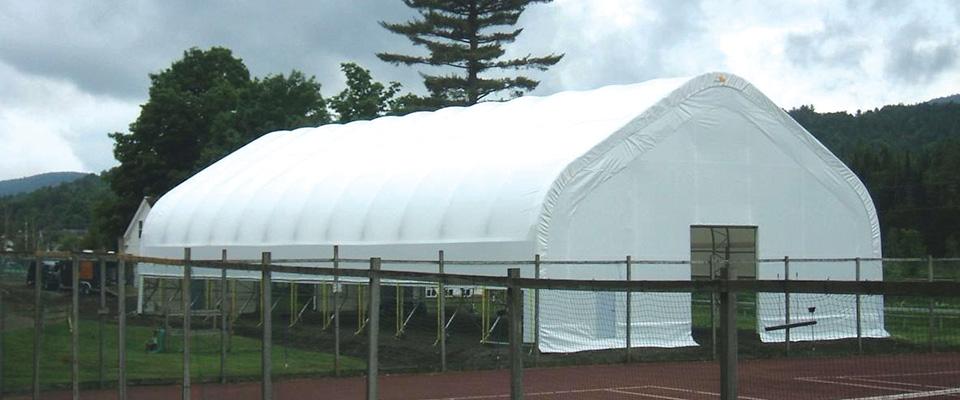Athletic storage building