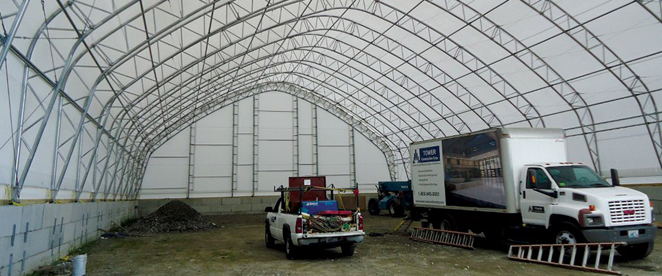 Clear span garages for the oil and gas industry for Clear span garages
