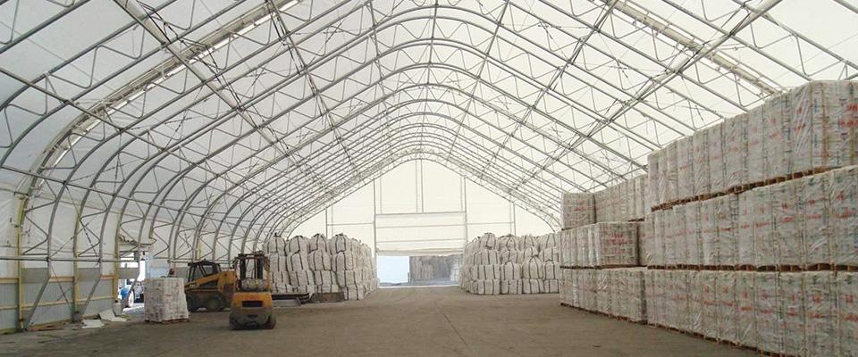 Fabric storage building
