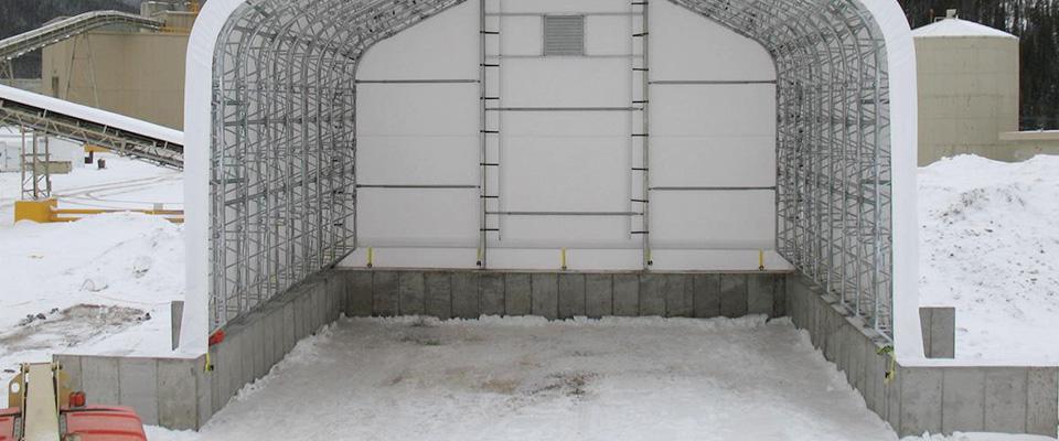Winter boat storage building