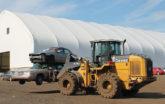Car Junkyard and Car workshop under a white fabric structure