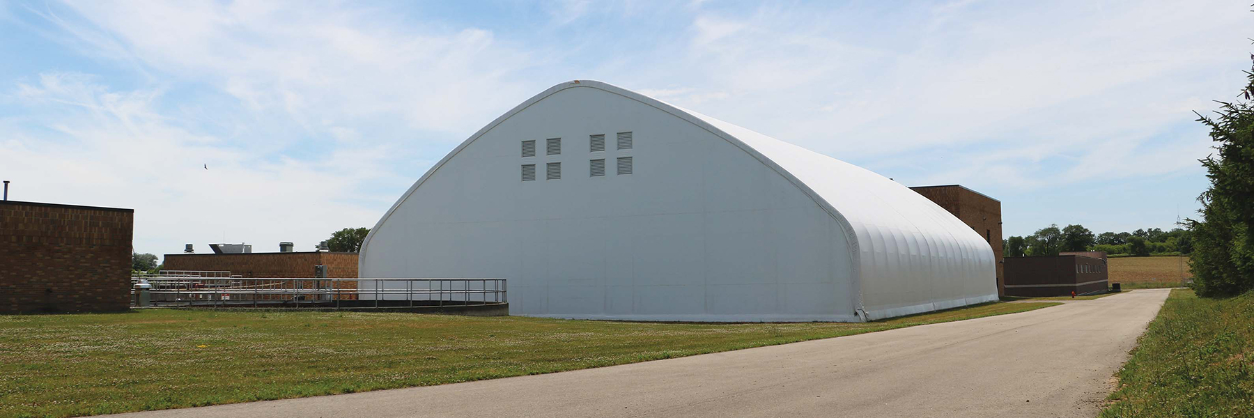 Waste and Recycling Plant - White Fabric Structure