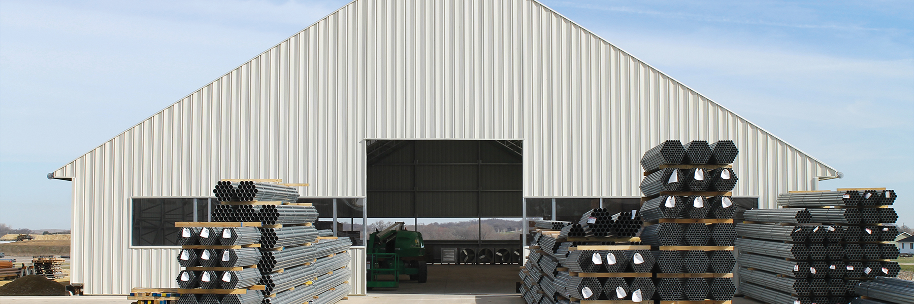 Metal Side wall for equipment storage