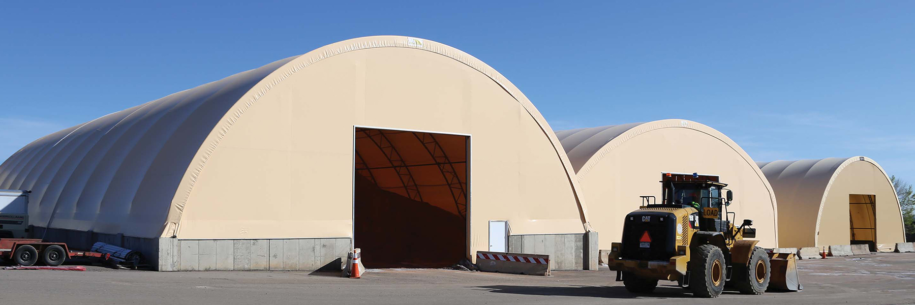 Financing Application - Beige Fabric Structures