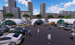 Pandemic Relief Buildings 3d Rendering