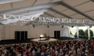 Temporary Building - Concert Hall - 3D Rendering